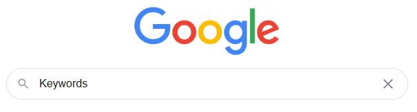 Google Keywordsuche