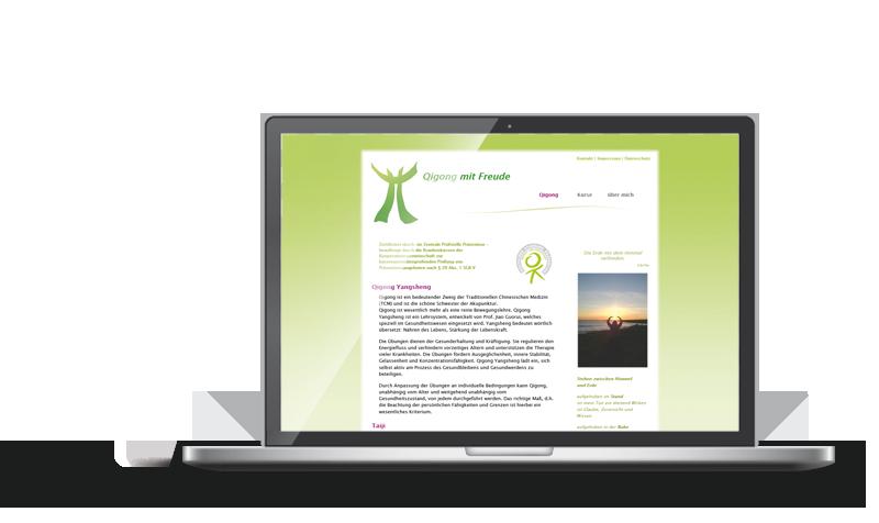 Quigong mit Freude   Referenz Web-Design