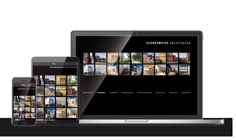 Schneeweiss Architekten - Referenz Webdesign