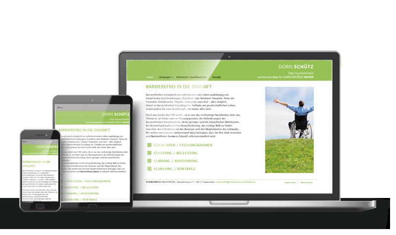 Barrierefreies Bauen - Referenz-Webdesign Saarbrücken