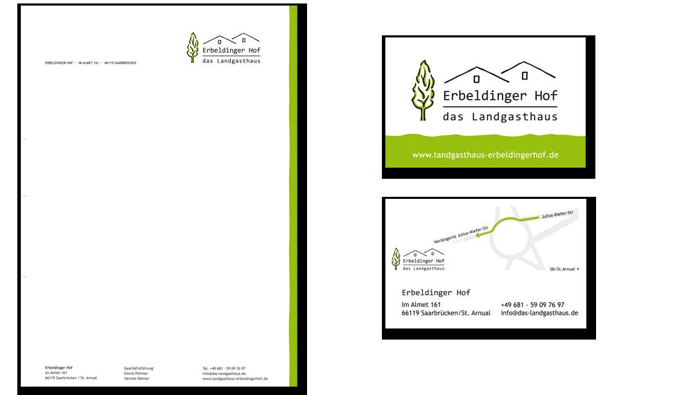 Geschäftspapier | Visitenkarten | Erbeldinger Hof