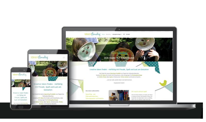 ideenfindig - Referenzen Web-Design