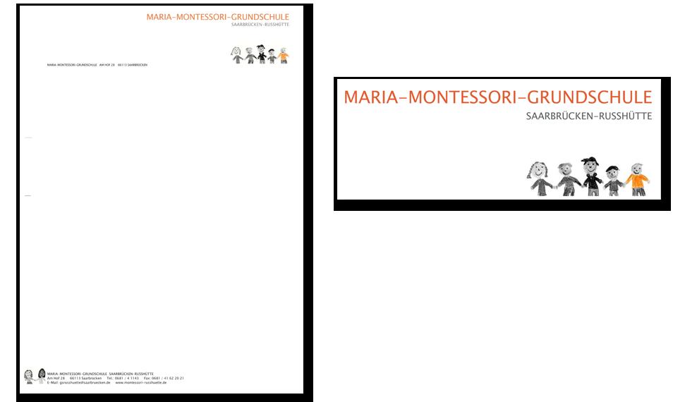 Logo | Geschäftspapier | Montessori Grundschule
