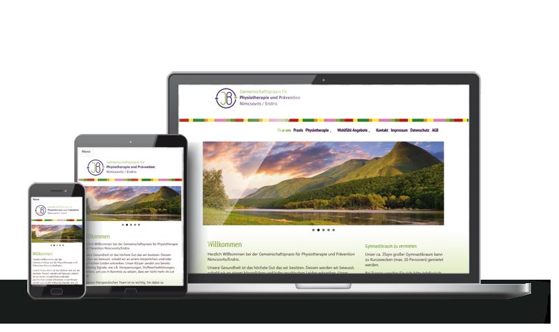 Praxis für Physiotherapie - Referenz Web-Design Saarbrücken