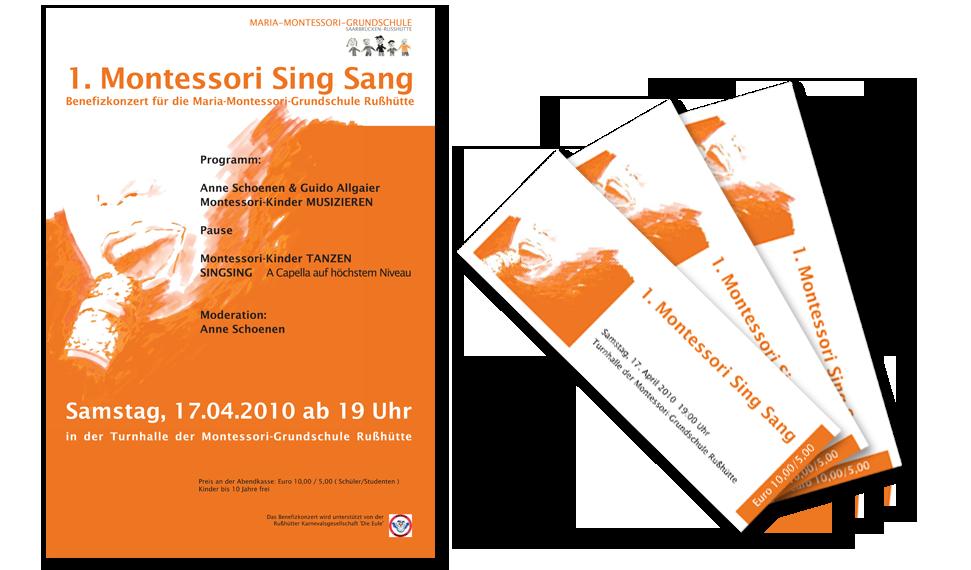 """Plakat   Konzert """"Sing Sang"""""""