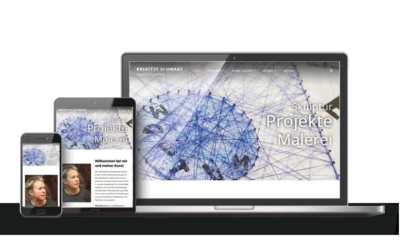 Referenz Webdesign - Schwarz Künstlerin